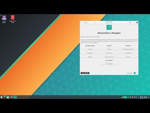 Instalando Manjaro KDE Plasma 17.0.2 Gellivara
