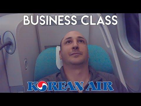 BUSINESS CLASS flight - Prague to Seoul KOREAN AIR