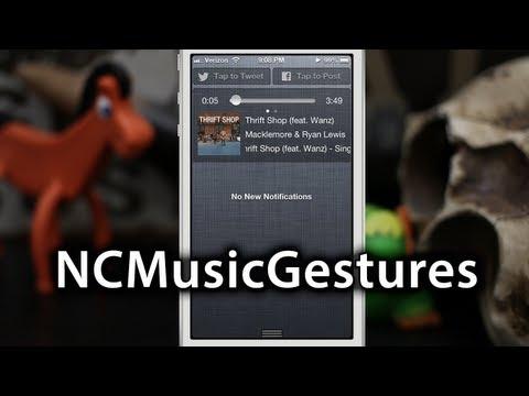 [Cydia Tweaks] NCMusicGestures - Music Widget For Notification Center