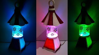 Lantern/Tealight Holder made with plastic bottle | DIY home Decorations Idea