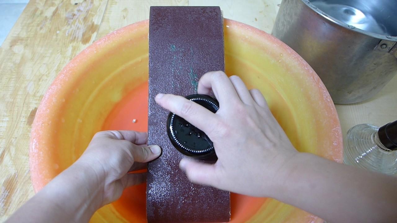 3-利用磨沙紙將玻璃銳利處磨平 - YouTube