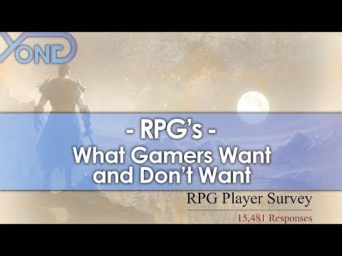 What Gamers Want and Don't Want from RPGs