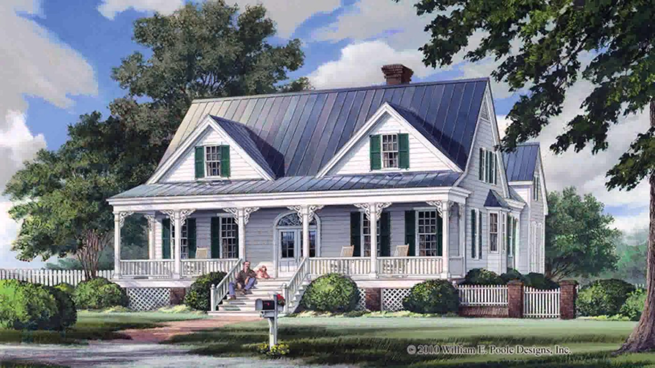 Colonial Style House Plans With Basement   YouTube