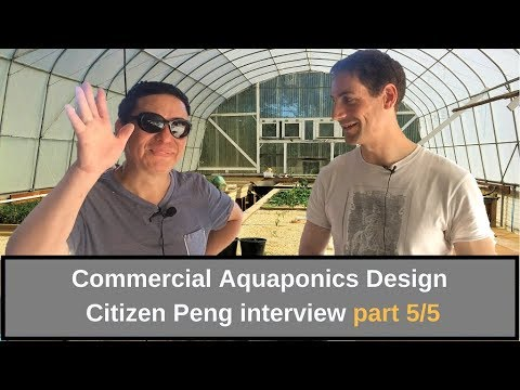 Commercial aquaponics design Interview Citizen Peng part 5