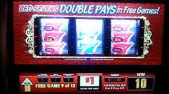 Wild Red 7 slot machine free spins HAND PAY!