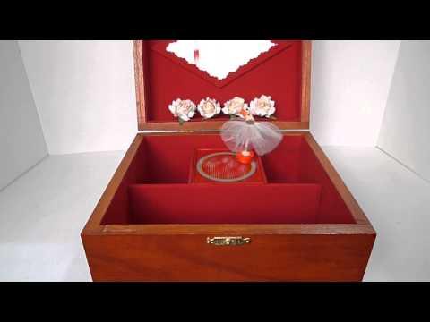 Personalized Music Box with Ballerina . Swan Lake Music Box