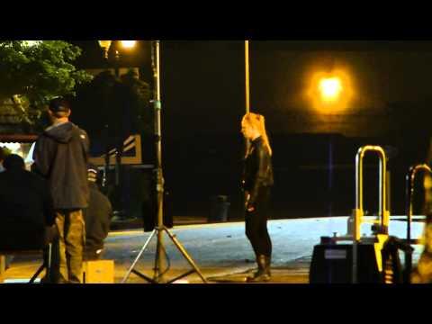 kristen bauer and alexander skarsgard filming true blood season 4 on location