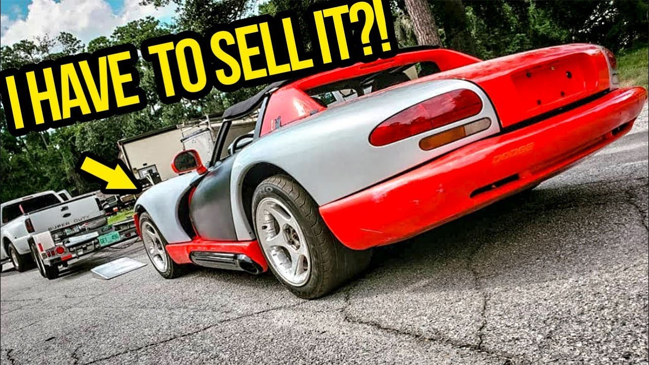 i-have-to-sell-my-cheap-dodge-viper-garage-update