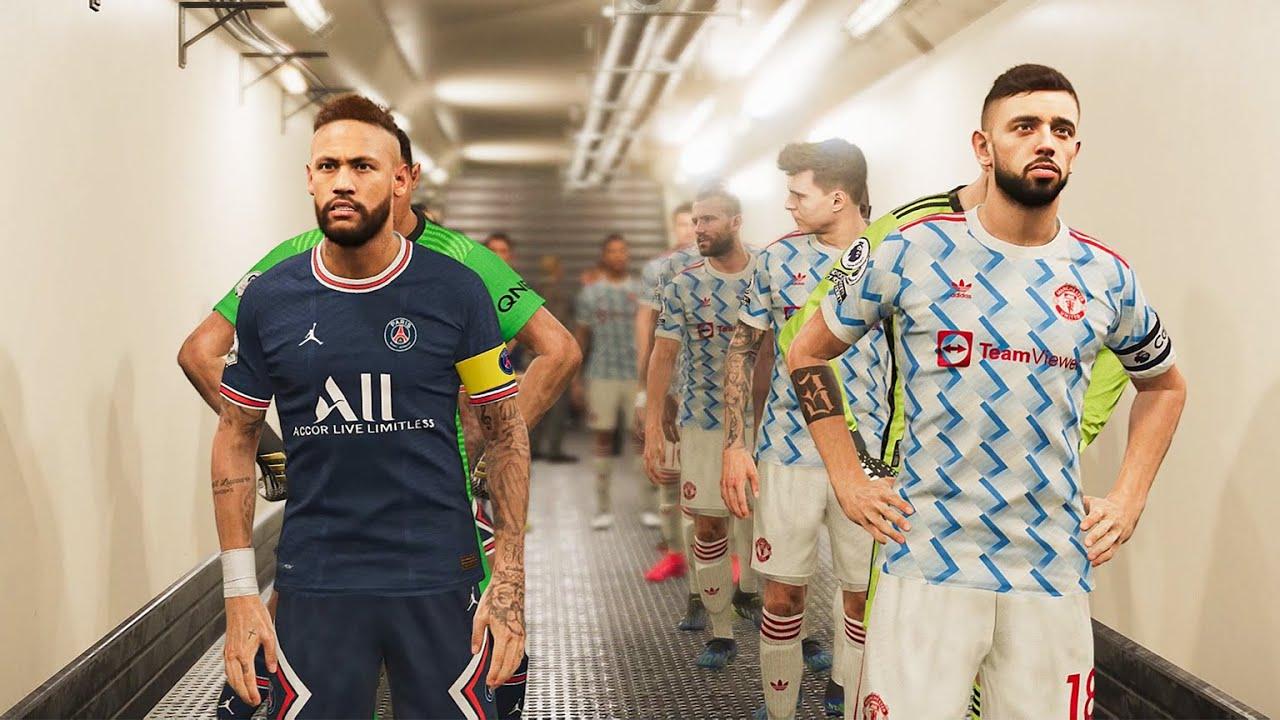 Manchester United Vs Psg New Kits 2021 22 Gameplay Youtube