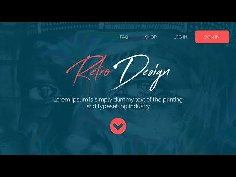 Web Design // Retro Flat Design // Speed Art + Speed Code