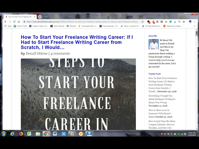 Home - Freelance Content Writer   Review