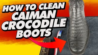 How To Clean Caiman Crocodile Boots