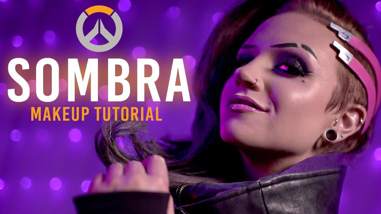 Sombra Overwatch Makeup Tutorial Feat Boyinaband
