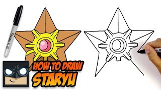 How to Draw Pokemon | Staryu | Easy Tutorial for Beginners
