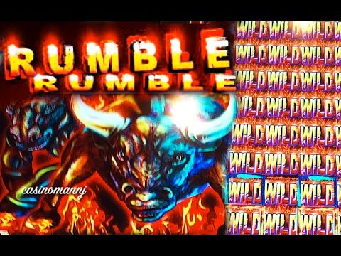 RUMBLE RUMBLE SLOT -MULTIPLE RETRIGGERS - *Nice Slot Win* - Slot Machine Bonus - 동영상