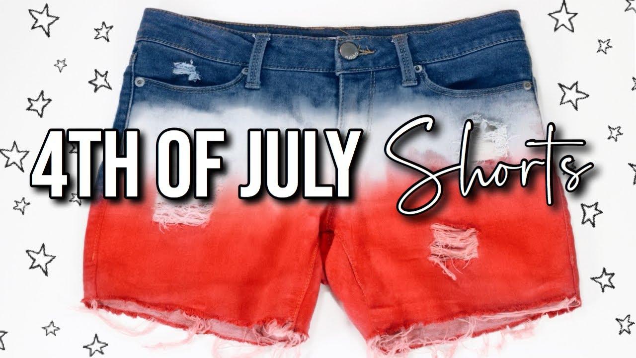 DIY 4TH OF JULY SHORTS! | Dip Dyed shorts 1