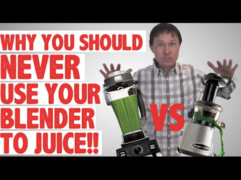 Why You Should Never Use Your Blender to Juice