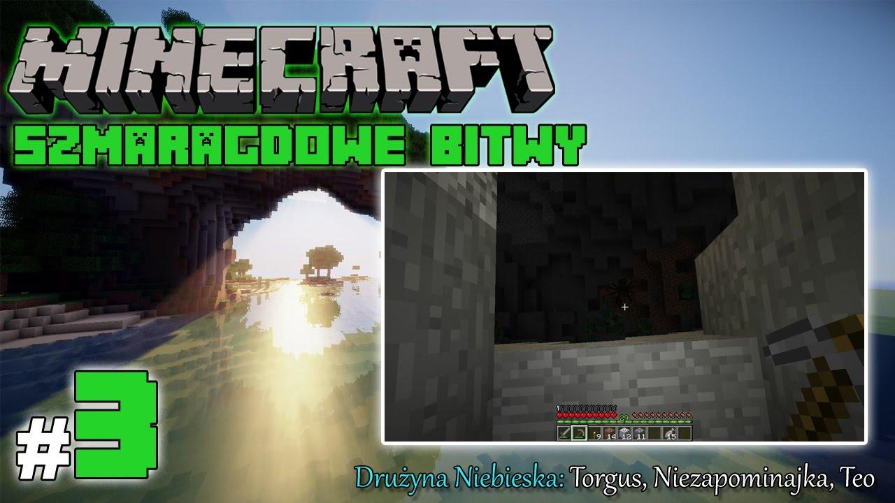 """Minecraft: Szmaragdowe Bitwy [Drużyna Niebieska] odc. 3 – """"Ogromne jaskinie"""""""