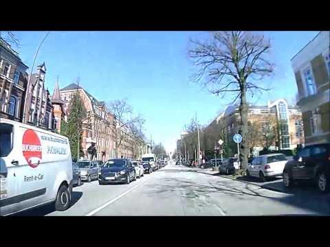 Reise mit dem Auto video footage doku Dashcam aus Germany Hamburg