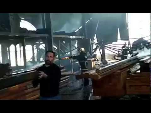 πυρκαγιά σε αποθήκη ξυλείας