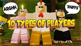 10 TYPES OF PLAYERS IN DUNGEON QUEST ROBLOX