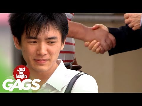 The Longest and Weirdest Handshake Prank - JFL Gags Asia Edition