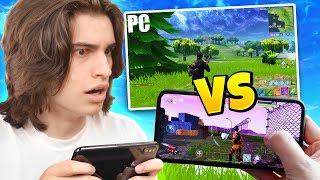 WINNING on Fortnite Mobile vs PC!