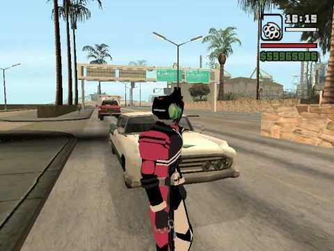 โปรโมทเพจ รีวิวเกมส์ GTA San Mod Mask Rider