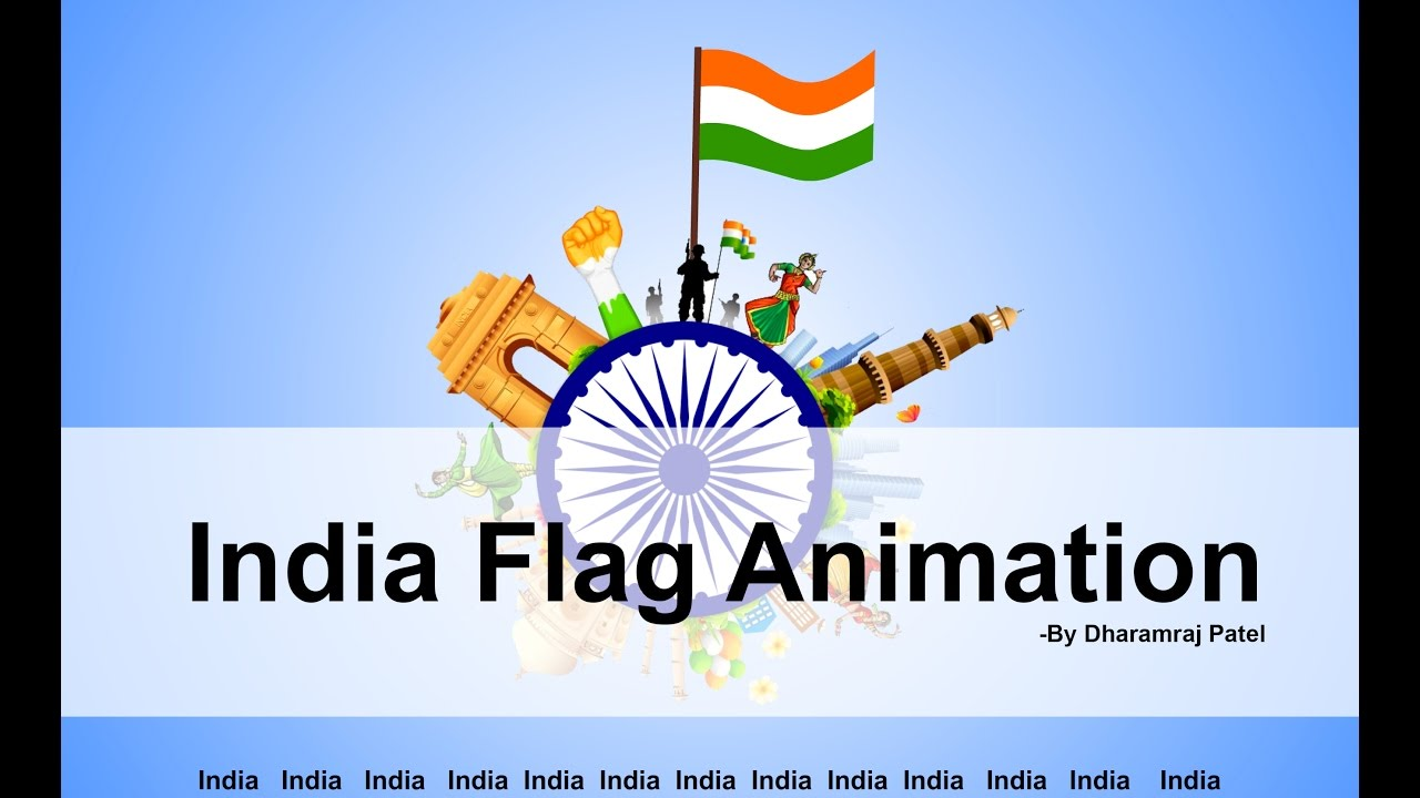 Indian Flag Animated: Indian Flag Animation