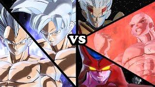 Goku & Vegeta (Mastered Ultra Instinct) VS All Villains & Enemies (DB, DBZ, DBGT, SUPER) - XV 2 Mods