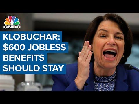 Senator Amy Klobuchar: $600 unemployment benefits should stay