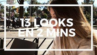 13 LOOKS EN 2 MINUTOS | Irene Bravo