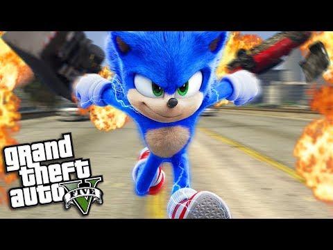 The NEW SONIC the HEDGEHOG Movie (GTA 5 Mods)