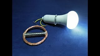 Free Energy Magnetic Device With Copper Wire Coil For Light New Science Project  New Technology