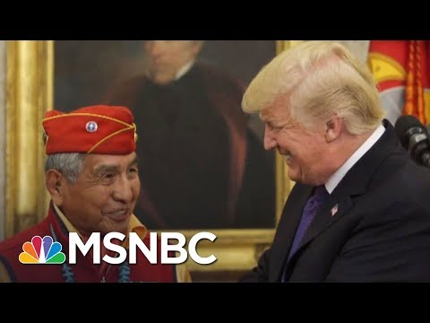 "President Donald Trump Calls Elizabeth Warren ""Pocahontas"" At Native American Event 