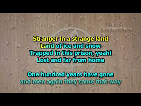 Iron Maiden - Stranger In a  Strange Land (Karaoke)