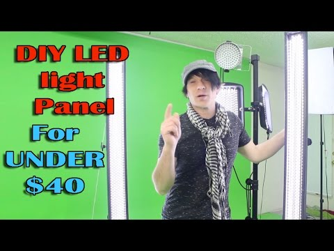 diy led light panel how to build video photography studio lighting cheap youtube. Black Bedroom Furniture Sets. Home Design Ideas