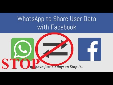 How To stop whatsapp to share your data on facebook
