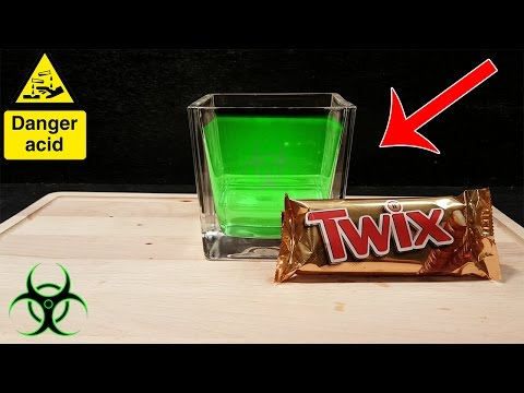 Experiment What Happens To A TWIX BAR In STOMACH ACID?