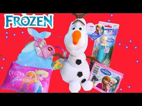 Queen Elsa Pez Candy Valentines Day Snowman Olaf Plush Princess Anna Stickers Cinderella Dress Haul