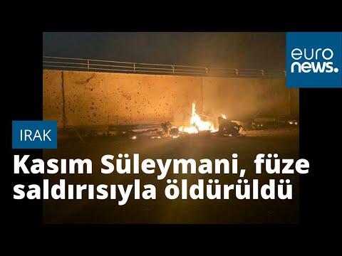 Video: Kasım Süleymani ve Haşdi Şabi başkan yardımcısına yönelik saldırının görüntüleri yayımland…