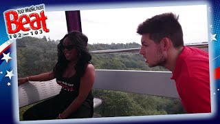 The Beat 102 103 Crew on The SkyRide in Alton Towers