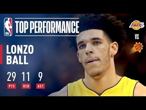 Lonzo Ball Completes A Near Triple Double in Lakers Win | 29 Points, 11 Rebounds, 9 Assists