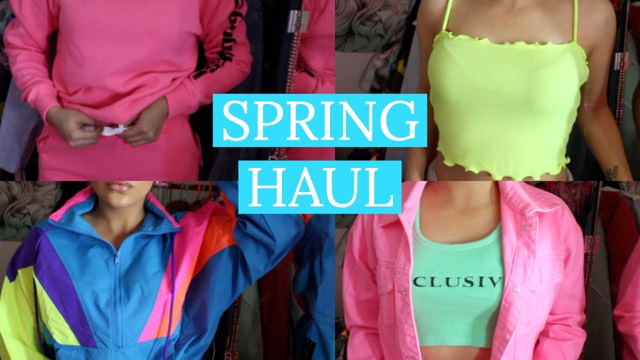 A VERY NEON CLOTHING HAUL | FASHION NOVA, FOREVER 21, ETC.