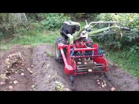 видео: Мотоблок копает САМ
