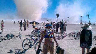 Burning Man 2010 - Temple dust storm / twister
