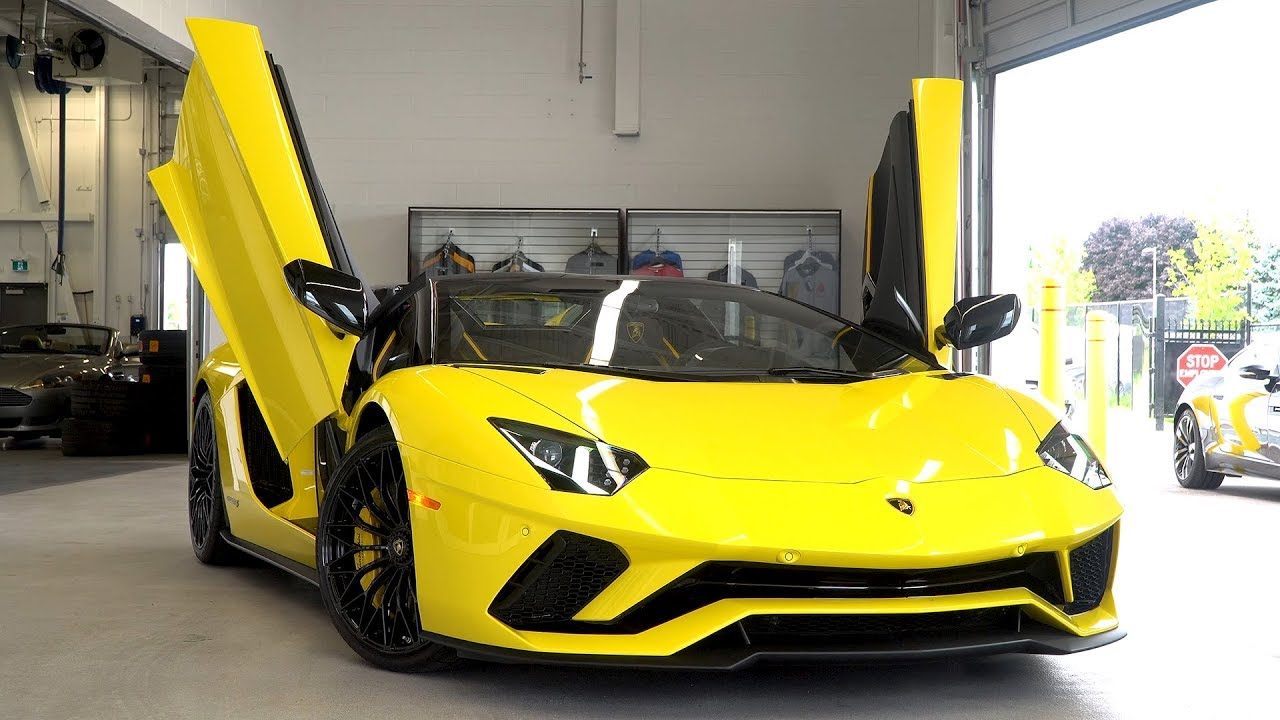 Delivery Of A 2019 Lamborghini Aventador S Lp 740 4 Roadster In