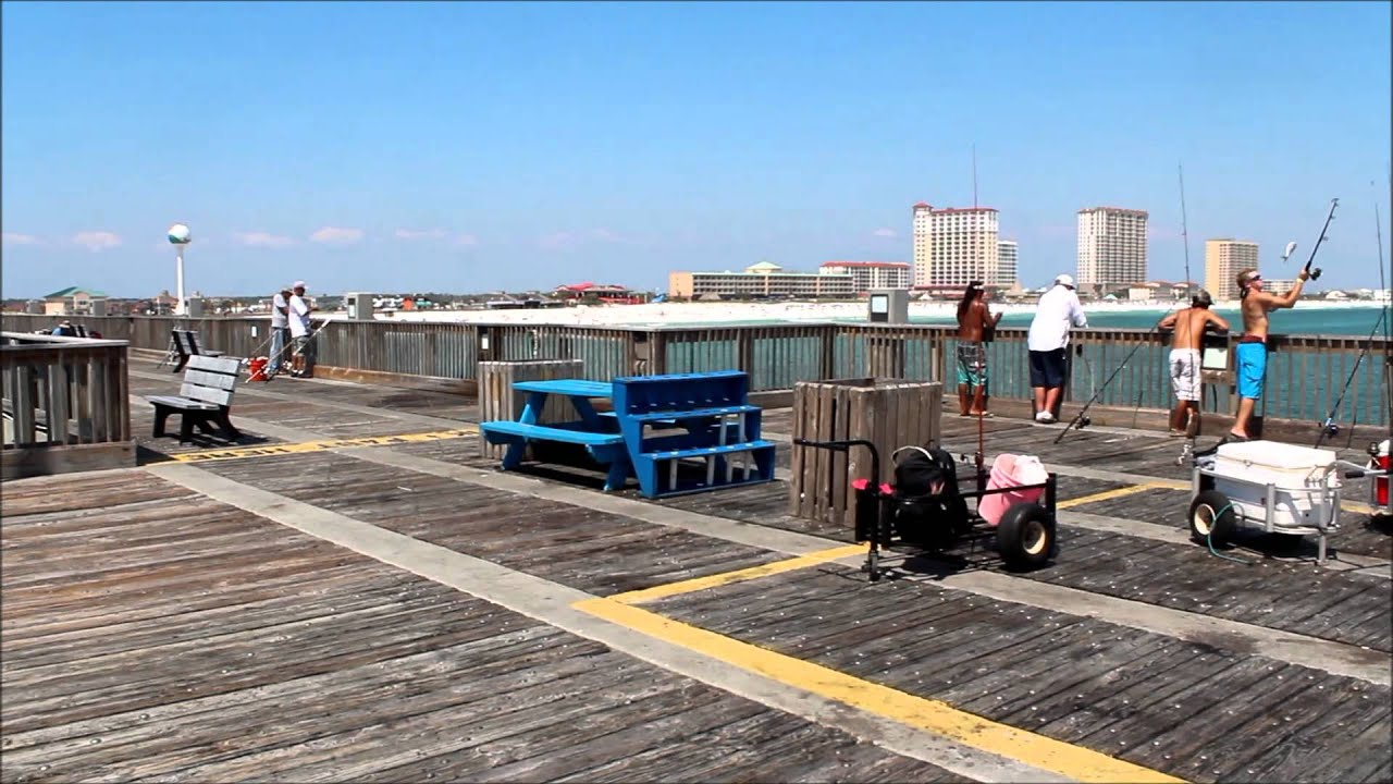 Pensacola beach gulf fishing pier 2012 youtube for Pensacola fishing forecast