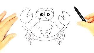 Dibujo fácil de un Cangrejo paso a paso | Cómo dibujar un Cangrejo para niños