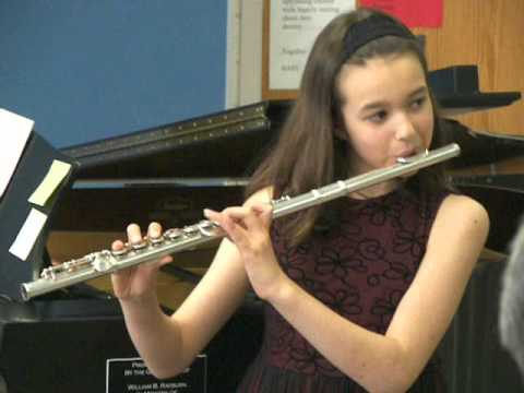 Me playing flute when I was 9
